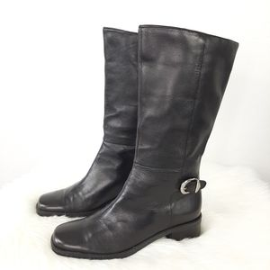 Naturalizer Leather Riding Boots Black Size 7M